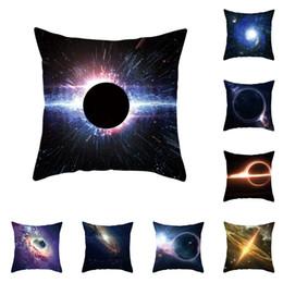 Travesseiro de galáxia on-line-Buraco negro Impresso Fronha 45 * 45 cm Galaxy Planet Floral Fronha Sofá Do Carro Quadrado Fronha Casa Decorativa Atacado A41805