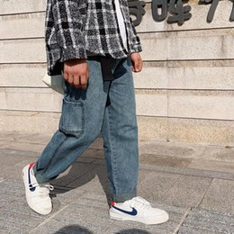 Korean Solid Pocket Ruffle Loose Men Cropped Pants
