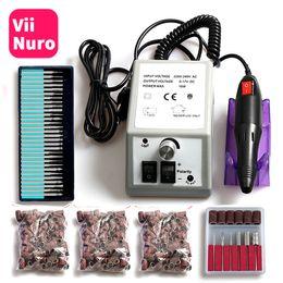 máquina de archivos Rebajas Máquina de taladrado de clavos eléctrica caliente para manicura y pedicura Taladro 12W Fresa Clavos Equipo Conjunto de limas de uñas eléctricas