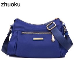 purple handbags for sale Promo Codes - Hot Sale Handbag Women Messenger Bags For Female Shoulder Bag Waterproof Nylon Ladies Crossbody Bags Sac A Main Bolsa Feminina