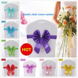 16 colores fundas para sillas elásticas fajas tafetán fajas banquetas bowknot cubierta de gasa para la boda de la boda fiestas en casa accesorios desde fabricantes