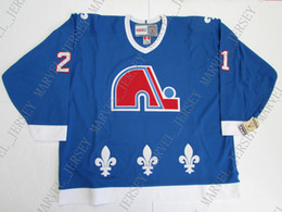 8201a8c91 Cheap custom PETER FORSBERG QUEBEC NORDIQUES VINTAGE CCM HOCKEY JERSEY  stitch add any number any name Mens Hockey Jersey XS-5XL