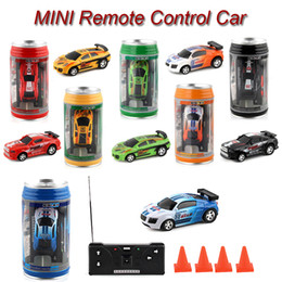 zumbido de ala fija Rebajas Mini rc car 6 colores Mini-Racer coches de control remoto Coca-Cola Mini rc coches Micro Racing 1:45 Car Kids toys SS236