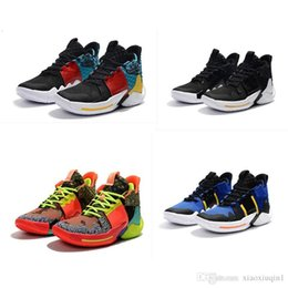 2f5105b3e4c9 Mens Lebron 3 basketball shoes for sale retro Russell Westbrook Oreo youth  kids boys AJ 4 boots sneakers with original box size 7-12