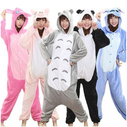 vestiti di mascheratura femminile Sconti Totoro Kigurumi Onesie Adult Women Animal Pajamas Suit Flannel Warm Soft Sleepwear Onepiece Winter Jumpsuit Pijama Cosplay