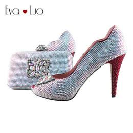 scarpe abito su misura Sconti BS1015 DHL Custom Made Vino Rosso AB Crystal Shoes con borsa coordinata Set Open Toe Scarpe da donna Dress Pumps Matrimonio nuziale