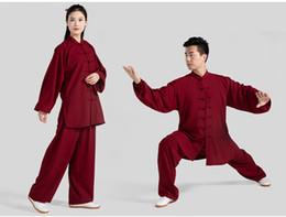 2019 Nuovo eroe del prodotto Tai Chi Serve Woman Spring and Autumn Practice Servire Cotton Taiji Boxing Un servizio di performance di arti marziali da tai box fornitori