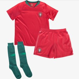 7c066b635d2 Ronaldo Portugal Jersey 2018 World Cup Pepe Moutinho Eder J Mario Portugal  Kids Little Boy s Home Kit