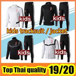 Abiti per bambini online-tuta da allenamento giacca da calcio per bambini 2019/20 kit giacche bambino tuta da calcio con cerniera giacca da calcio felpa