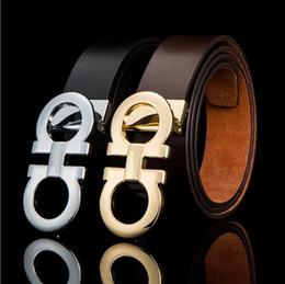 italie ceintures Promotion Ferragamo Italie cuir concepteur d'affaires importe ceintures montées vraiment la mode en cuir 8 boucle de ceinture ceintures boucle en alliage de zinc 105-125cm