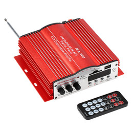 mp3 king Скидка Freeshipping MA200 4 канала HiFi аудио стерео усилитель сабвуфер автомобильный MP3 динамик USB SD FM