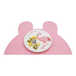 coniglio di stuoia Sconti Stuoie del silicone di forma del coniglio sveglio Stuoie resistenti al calore Tovaglietta del bambino Decorazione della tavola Gadget da cucina Accessori Forniture
