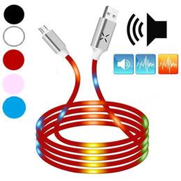 câble usb usb Promotion Mode Led Lumière Contrôle de la voix Son Réglage automatique Type de lumière c Micro Câble USB 1m 3ft câbles de chargeur de données pour samsung s7 s8 s9 s9 s10 htc lg