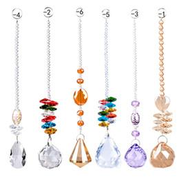Renkli Kristal Avize Lamba Aydınlatma Damla Kolye kristal prizma asılı top Cam Prizmalar Parçaları Ev Dekorasyon supplier crystal chandeliers parts nereden kristal avizeler tedarikçiler