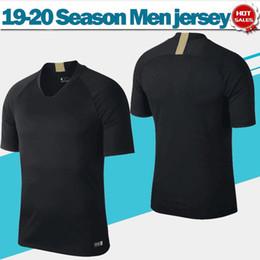 Uniforme de entrenamiento de futbol online-2020 Inter training soccer jersey negro 19/20 Inter black Soccer Shirt entrenamiento uniformes de fútbol