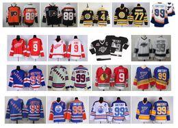 bourque trikot Rabatt Jahrgang Könige 99 Wayne Gretzky Jersey 9 Gordie Howe 9 Bobby Rumpf 4 Bobby Orr 88 Eric Lindros 77 Ray Bourque Rangers St. Louis Blues Hockey