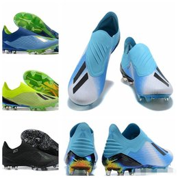 Botas de as online-2018 Copa del mundo para hombre ACE X 18+ Speedmesh FG Botines de fútbol Zapatos de fútbol Purechaos Botas de fútbol Tobillo bajo X ACE Tango 18 PureControl