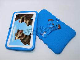 tableta china teléfono sim Rebajas 5pcs New Kids PC de la tableta de 7 pulgadas tableta niños Quad Core Android 4.4 de Allwinner A33 Google gran altavoz del jugador WiFi caso protector