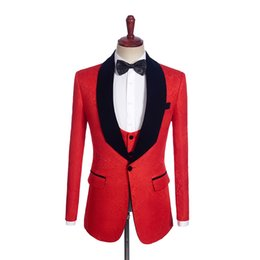 Vêtements sur mesure en Ligne-Veste imprimée pour manteau homme 2 couleurs pour homme vêtement sur mesure veste Tailleur costume Blazer 1PSc châle revers blazer