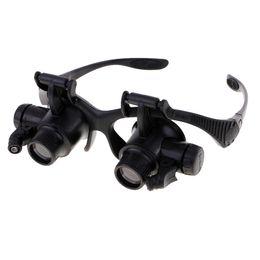 2019 lupa jóia olho joalheria 4 Ampliações 10 (X) 15 (X) 20 (X) 25 (X) Lupa Lupa Eye Glasses Lupa Jeweler Assista Ferramenta de Reparo de Jóias com Luz LED desconto lupa jóia olho joalheria