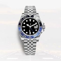 2019 человек часы автоматические gmt montre de luxe мужские автоматические часы GMT керамика полностью из нержавеющей стали 40 мм супер светящийся водонепроницаемый relojes de Lujo Para Hombre дешево человек часы автоматические gmt