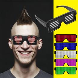 Солнцезащитные очки rave онлайн-Неоновый мигающий светодиод загорается тени очки светящиеся праздничные атрибуты освещения яркий свет световой рейв ночной фестиваль ну вечеринку солнцезащитные очки деко