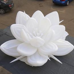 Cazip Özelleştirilmiş Tasarım Topraklama Şişme LED Çiçek düğün ve olay için şişme yapay çiçekler nereden büyük beyaz balon tedarikçiler