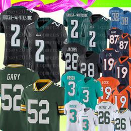 22cd0b5c859 New 2 JJ Arcega-Whiteside Philadelphia Eagles Green Bay Packers 52 Rashan  Gary Jersey 3 Josh Rosen Dolphins 19 Drew Lock 87 Football