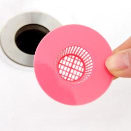 2019 coladores de fregadero de plastico accesorios de baño de lastic Bañera Bañera Tapón para el cabello Ducha Orificio de drenaje Trampa de filtro Fregadero de plástico Colador para accesorios de baño Ducha ... coladores de fregadero de plastico baratos