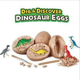 esperimenti automobilistici Sconti Dinosaur Toy Model Scavi archeologici giocattoli di uova simulate nel mondo Giurassico Tyrannosaurus Rex Dinosaur giocattolo per bambini