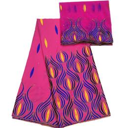 Вышитая королевская сине-золотистая ткань KY36 платья fushia ярдов картины 5+2 цветов красная,ткань шнурка хлопка хорошего качества Африканская от
