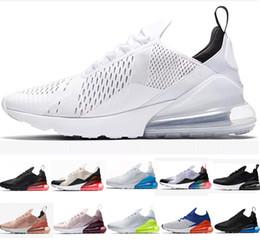 chaussures roses Promotion Nouveau Nike Max 270 Hommes Air Chaussures De Course Tigre Cactus Triple Noir Blanc Rose Chaussures De Course Sneaker Sport Baskets Chaussures taille 36-45