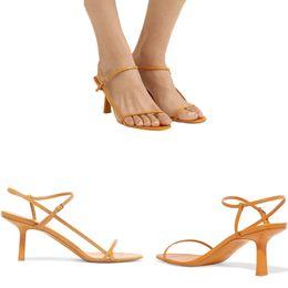 2019 Moda Tasarımcısı Ayakkabı Yaz Çıplak deri Sandalet Yumuşak Donanma Deri 65mm Kutu Ile Zarif Ince Kayış Seksi Kız Sandalet US4-9 supplier navy sandals nereden lacivert sandaletler tedarikçiler