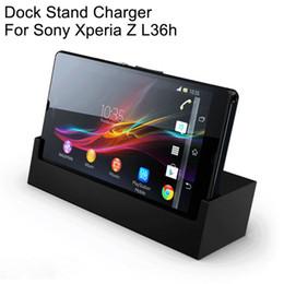 Orijinal Sony Masaüstü Şarj Dock SONY Xperia L36h Xperia Z Için Şarj DK26 Standı C660x L36i c6603 cheap sony xperia dock charger nereden sony xperia dock şarj cihazı tedarikçiler