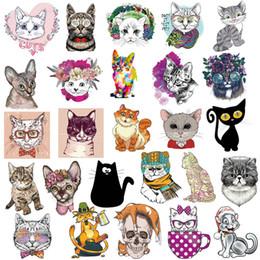 Auto del gatto dell'autoadesivo online-50pcs serie gatto Graffiti adesivi animali del fumetto Personal Car Sticker Bagagli Skateboard Paster diversi stili 6 41nt Ww