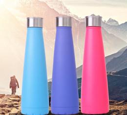 Bottiglie Cola acqua in acciaio inox vuoto isolamento Cup Sport 304 Bowling Forma Viaggi Tazze colori Tumbler tazze portatili da