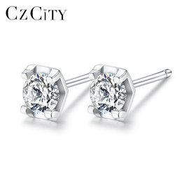be1f2fc3d PAG&MAG Classic Dream 1 Carat Sterling Silver Stud Earrings High Quality  Sparkling Cubic Zirconia S925 Earrings Fine Jewelry Gift