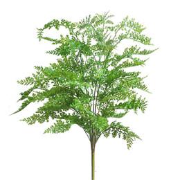 Grandi piante da giardino online-75 cm nuovo di alta qualità artificiale grande felce erba albero pianta felce erba falso pianta in vaso giardino di casa decorazione albero decorativo