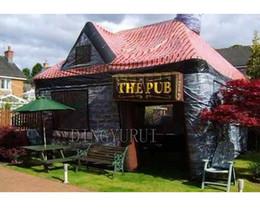 2019 casas infláveis 10x5x5 m casa de aluguel de barraca de festa ao ar livre inflável bar irlandês tenda de pub inflável para o feriado desconto casas infláveis