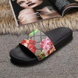 Zapatos hechos italia online-moda para hombre y para mujer flor floral estampado floral sandalias de diapositivas zapatillas unisex zapatos sin cordones hechos en Italia causales desgastes en la playa