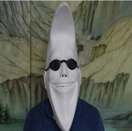 Blanco divertido hombre de la luna mujeres cabeza llena máscara de látex cara disfraz de halloween bola cosplay fiesta máscara máscara de la mascarada desde fabricantes