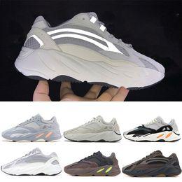 las mejores zapatillas baratas para hombre. Rebajas Barato Mejor Calidad Kanye West Wave Runner 700 Static Mauve Solid Geode Sports Running Shoes Hombre Mujer Zapatillas Deportivas tamaño 36-46