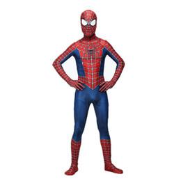 2019 unisex gold zentai Raimi Spiderman Kostüm 3D gedruckt Kinder / Erwachsene Lycra Spandex Spider-Man Kostüm für Halloween Cosplay Zentai Anzug Freies Verschiffen günstig unisex gold zentai