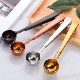2019 scoop inox inox Cucchiai dosatori Caffè in acciaio inox Scoop Busta sigillata multifunzione Cucchiaini da caffè Accessori da cucina Gadget Utensili CLS191 sconti scoop inox inox