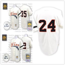 Houston Colts jerseys 35 Joe Morgan 24 Jimmy Wynn 2 Nellie Fox jersey  Baseball Jerseys 1964 cream Embroidery sewing caa5b1acf
