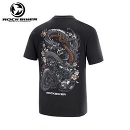 Рубашки всадника онлайн-Рок Байкер лето Мотоцикл футболка мужского Punk Мотоциклетной Dragon Tatoo Гонка Tee Shirt Байкеры Riders Футболка Подиум Спорт