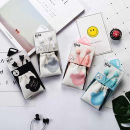telefoni auricolari per cellulari Sconti Colore della caramella 3.5mm Wired Auricolari In-Ear Stereo Bass Music Auricolari con cuffia HiFi per iPhone Xiaomi Samsung Mobile Phone MP3