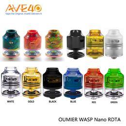 goutte à goutte rdta Promotion Combinaison atomiseur de réservoir OUMIER WASP NANO RDTA 2 ml pour embout compte-gouttes 510 avec conception à entrée d'air unique