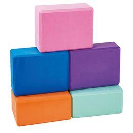 Vendita all'ingrosso blocchi di yoga schiuma EVA colorato blcoks yoga per esercizio allenamento Fitness blocco mattone cinghia di stiramento Yoga rinforzo da