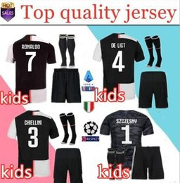 2019 2020 local Juventus Soccer Jersey NIÑOS DYBALA RONALDO DE LIGT Camiseta de fútbol 18 19 20 Personalizado MARCHISIO MANDZUKIC portero desde fabricantes